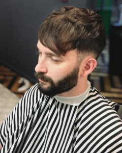 textured sweep haircut