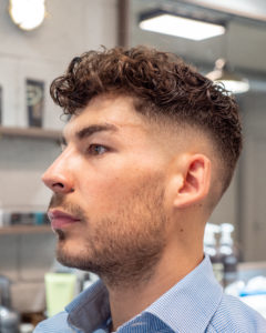 Cutters Yard Skin Fade with Heavy Curls on the Top